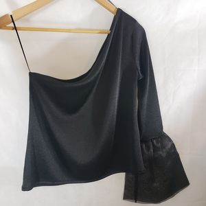 NEW Zara One Shoulder  Bell Sleeve Blouse